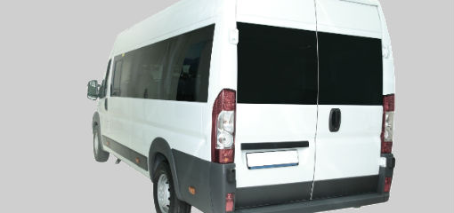 rear of mini bus