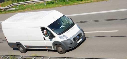 white Fiat van