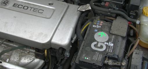 car battery in situ