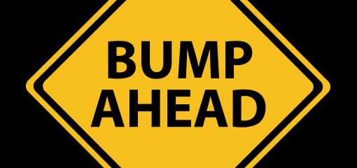 Bump Ahead sign