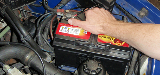 loose car battery in engine bay