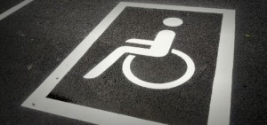 disabled parking space sign