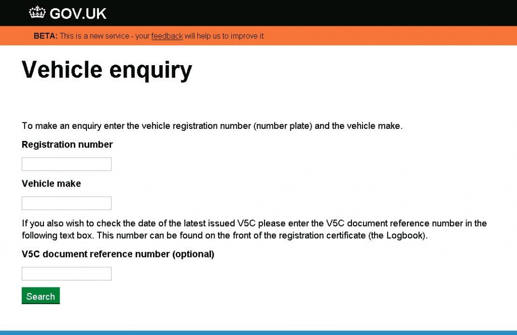Vehicle check gov uk