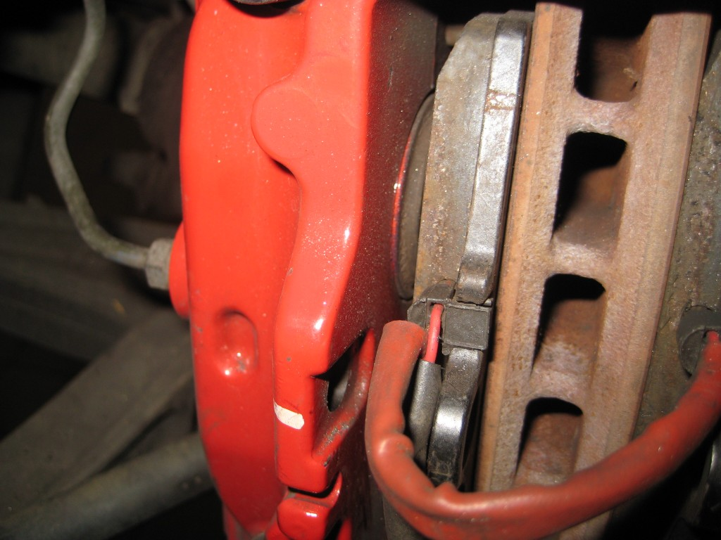 Brake pads in the wrong way round