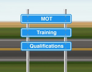 MOT training road sign