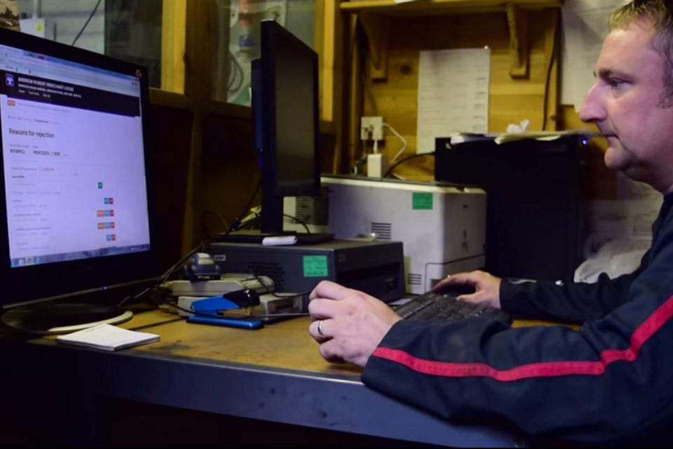 Tester using the MOT system