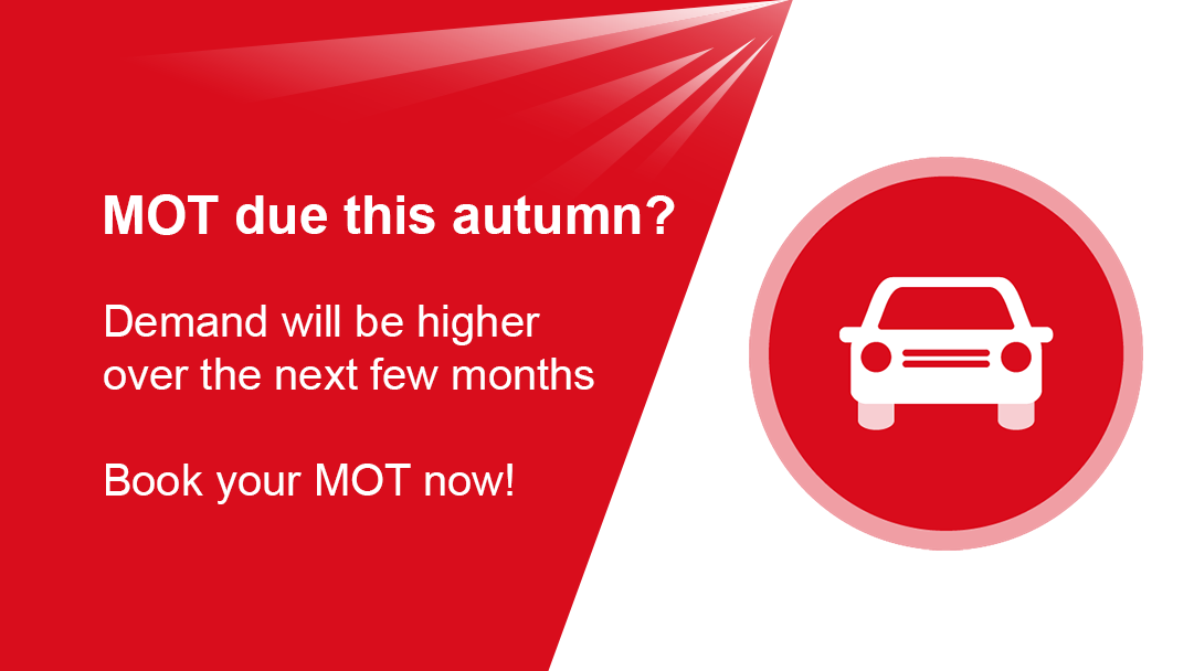 Demand for car MOTs will be higher this autumn