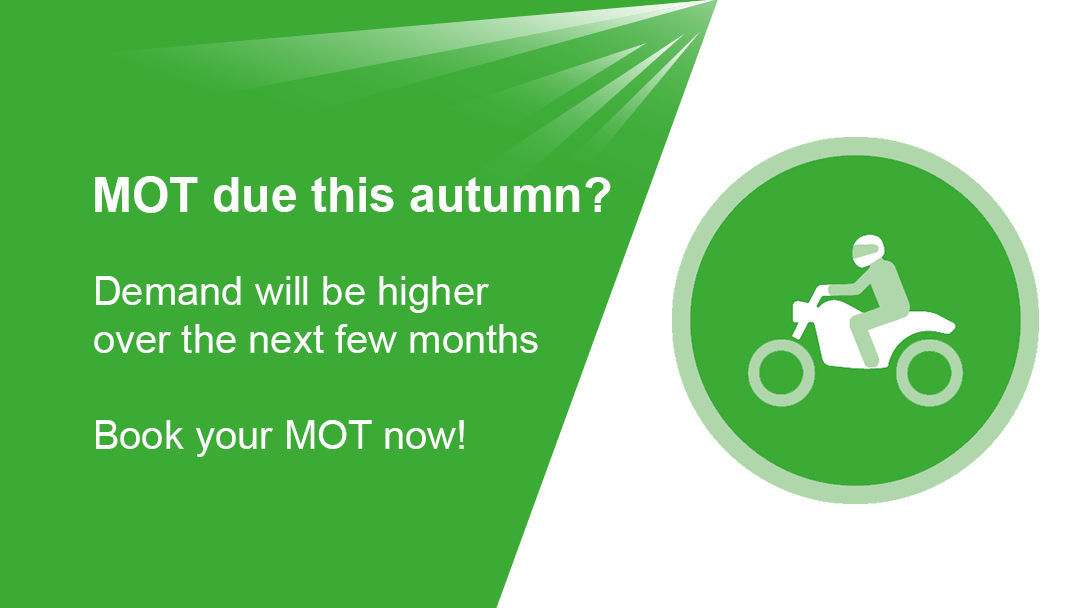 Demand for motorcycle MOTs will be higher this autumn